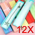 12 X Long Luxury Card Jewelry Watch Display Gift Box For Pendent Watch Bracelet