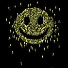 HAPPY PEOPLE Smiley Men's T-SHIRT flash mob Graphic Design fun novelty tee S-XL