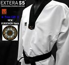 MOOTO EXTERA S5 Uniform WTF Taekwondo Dan Dobok (with Free KUKKIWON Patch)