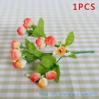 5 PCS Mini Silk Roses Artificial Flowers Wedding Home Decoration NO VASE F249