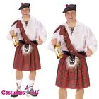 Mens Deluxe Big Shot Scot Costume Fancy Dress Up Halloween Full Outfit