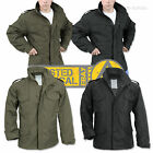 Classic M65 Army Field Combat Jacket With Quilted Liner Mens Military Parka Coat