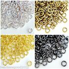 APPROX 100 STRONG JUMP RINGS VARIOUS COLOUR & SIZES - PLATED FINDINGS