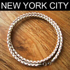 """4mm White Braided Bolo Leather Choker Necklace Cord 14"""" to 32"""" LCB0400WHTS"""