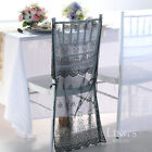 Lace Embroidery Organza Chiavari Chair Covers Wedding Party Decor 1/50/100pcs
