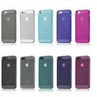 1X Ultra 1mm Thin Soft TPU Matte Case Cover Skin Dust Plug For Apple iPhone 5 5S