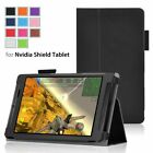 PU Leather Folio Case Cover with Stand Feature For Nvidia Shield Tablet (Black)