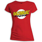 THE BIG BANG THEORY - RED GIRLIE-SHIRT (SHELDON'S BAZINGA SHIRT)