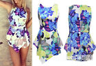 New Sexy Women's Sleeveless Bodycon Flower Printing Jumpsuit Romper Trousers