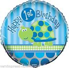"TURTLES BOYS FIRST 1ST  BIRTHDAY PARTY - 18"" FOIL BALLOONS"