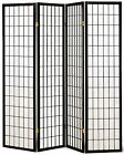 3,4,5,6,8, 10 Panel Japanese Oriental Style Shoji Screen Room Divider Black