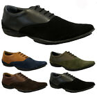MENS LEATHER SUEDE SMART OFFICE WEDDING SHOES ITALIAN DRESS CASUAL PARTY SIZE