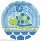 TURTLES BOYS FIRST 1ST  BIRTHDAY PARTY - PAPER PLATES (8)
