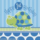 TURTLES BOYS FIRST 1ST  BIRTHDAY PARTY - NAPKINS (16) 2 PLY
