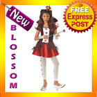 CK24 Queen Of Hearts Tween Alice in Wonderland Fancy Dress Up Halloween Costume