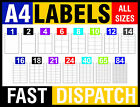 A4 SELF ADHESIVE WHITE STICKY ADDRESS LABELS SHEET INKJET LASER PRINTER