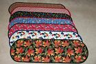FREE SHIPPING UNIQ Handmade Table Runner Centerpiece Assorted Patterns Lg 12x37