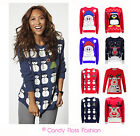 LADIES MENS XMAS CHRISTMAS NOVELTY UNISEX JUMPER RETRO SNOWMAN RUDOLPH SWEATER