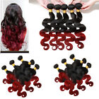 Hot Brazilian 2/3BundlesOmbre human hair extension Body WaveUnprocessed Hair US
