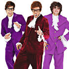 60s Gigolo Suit Mens Fancy Dress 1960s Austin Powers Groovy Retro Adults Costume