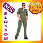 C222 Top Gun Mens Flight Suit Licensed Deluxe Costume