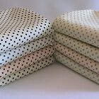Polka Dot on Cream Fabric Half Metre - Approx 3mm Spots 100% Cotton Spotty.