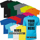 SG KIDS UNISEX T Shirt Printing Custom Design Your Own Personalised Printed Top
