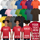 Kids Childrens Custom Personalised Printed T Shirt  Design Your Own T-shirts Top