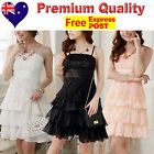 Lace & Chiffon Girls Party Dress, Jnr Bridesmaid Flower Girl Dress Size 8 to 12