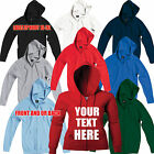 Ladies SG Custom Printed Zip Hooded Jacket Personalised Zoodie Hoodie Sweatshirt