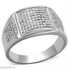 Mens Nuggets & Bling CZ Pave 925 Sterling Silver Ring
