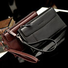 Men's Boy's Wallets bags leather clutch handbag Wallet Uique buttons bags ZC0012