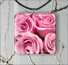 FLOWERS ROSE BOUQUET PENDANT NECKLACE EARRINGS -f5y8