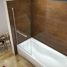 New Design Extra Wide 180°Pivot Radius 6mm Glass Bath Shower Screen Door Panel