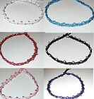NEW ANKLET white purple pink or black cotton beaded beads women girl beach surf