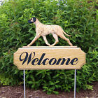 Great Dane (Natural) Welcome Sign Stake. Home, Yard & Garden Dog Products, Gifts