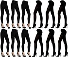 Winter Footless Footed Tights White Navy Black Brown LT100-LT101