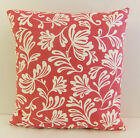 TRENDY SINGLE SOFA CUSHION COVERS CERISE AND WHITE PATTERN HOT PINK BACKING