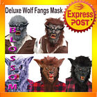 A252 Deluxe Wolf Man Werewolf Halloween Adult Mask Scary Costume Accessories