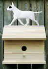 Bird House W/ Bull Terrier on Peak. Home,Yard & Garden Dog Breed Products, Gifts