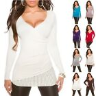 Women's Wrap Bows & Rhinestones Sweater Pullover Top - S/M (US 2-4-6)