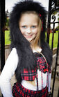 Flukes childrens wear unique tartan hoody waistcoat cozy faux fur fluffy top