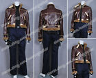 Resident Evil 4 Leon Kennedy Costume High Quality Artificial Leather Full Set