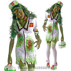 CL68 Zombie Biohazard Nurse Fancy Dress Horror Bloody Scary Halloween Costume
