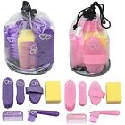 Elico Wexford Childrens Junior Glitter Hearts 6 Piece Grooming Kit  Pink Purple