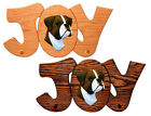 Boxer (Natural) Dog Joy Leash Holder In Home Wall Decor Wood Products Pet Gifts