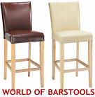PRANZO BONDED LEATHER BAR STOOL IN FOUR COLOURS