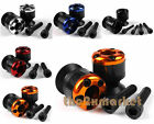 6mm Carbon Fiber Swingarm Sliders Spools For Yamaha YZF-R6 S 2003-2008