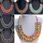 Fashion Crystal Statement Bib Pendant Collar Choker Necklace Chain Chic Jewelry