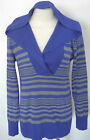 BANANA REPUBLIC Women's Purple & Gray Striped Hooded Sweater Sizes XS-S